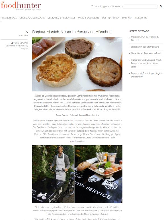 bonjour Munich - Food Hunter