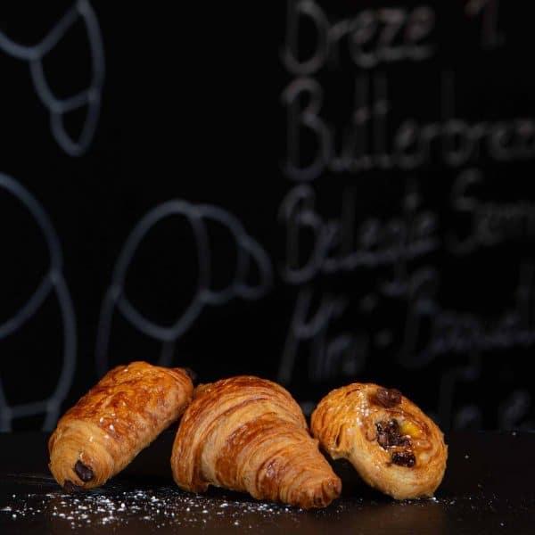 Mini-croissant Mini-pain au chocolat Mini pain aux raisins